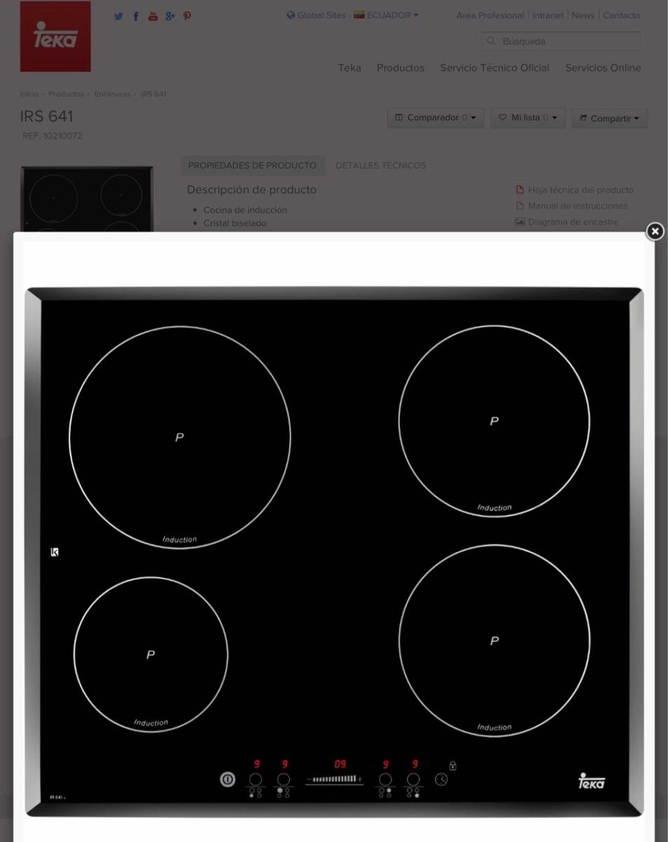 Teka horno teka campana teka cocina inducci n en combo - Cocinas induccion teka ...