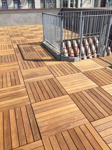 Teka Teca Modulo Deck Tile 50cm X 50cm Cumaru Madera