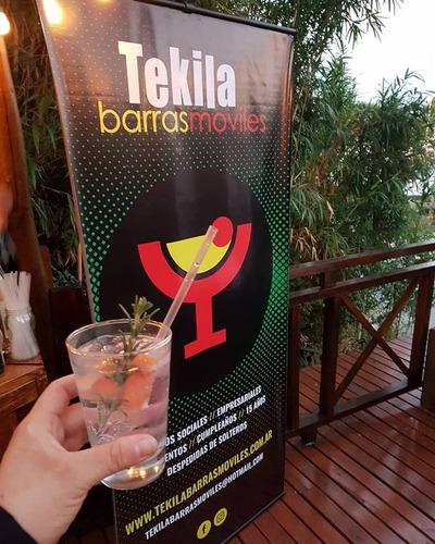 tekila barras moviles /servicio barra de tragos /cocteleria