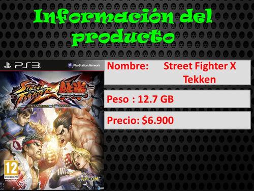 tekken ps3 street fighter