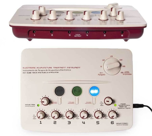 tekno bio body 6 canales electroestimulador acupuntura