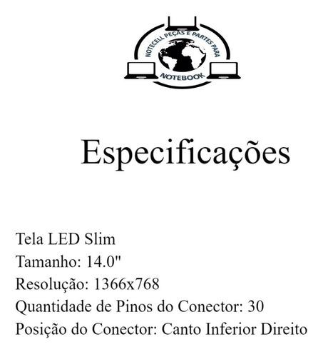 tela 14.0 led slim 30p nt140whm-n31 n140bga-ea3 n140bga-eb3