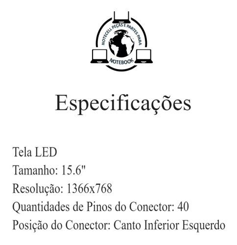 tela 15.6 led lp156wh4 ltn156at02 b156xw02 ht156wxb lp156wh2