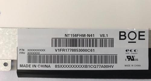 tela 15.6 led slim part number b156htn03.8 full hd