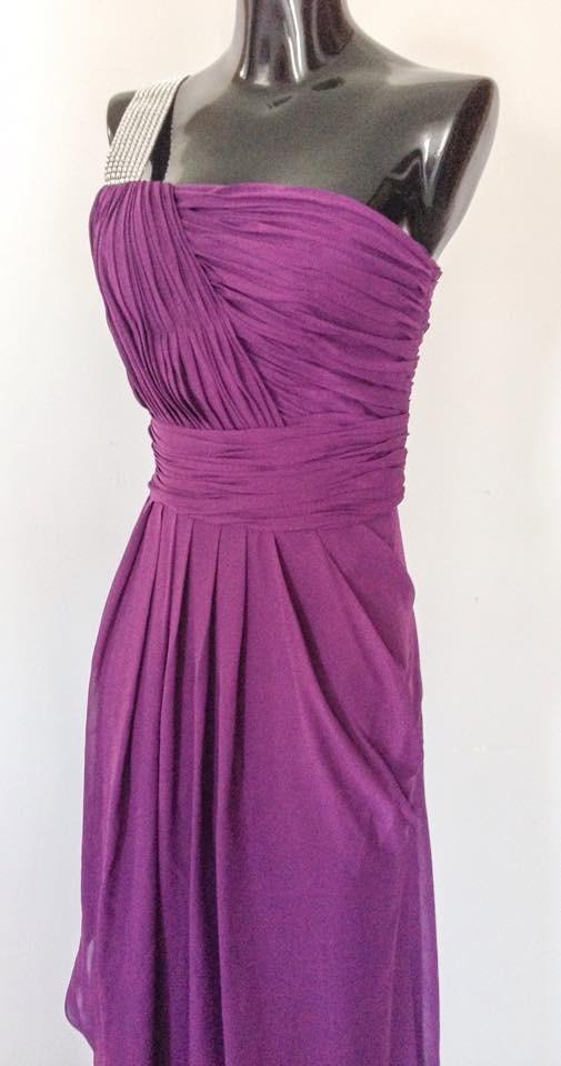 Lujo Luz Corta Vestidos De Dama De Color Púrpura Cresta - Ideas para ...