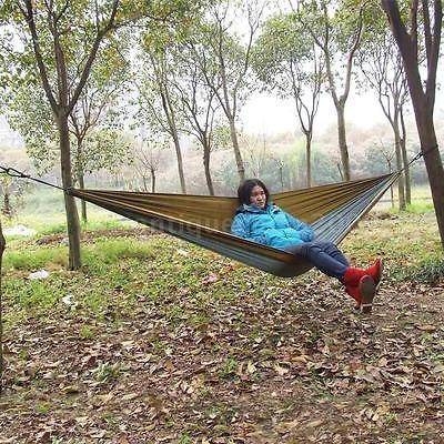 48ff641da Tela De Nylon Compacto Portátil De Viaje Camping Hamaca Dos ...
