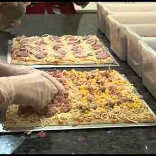 tela de pizza quadrada forno buffet pizzaria assar e esfriar