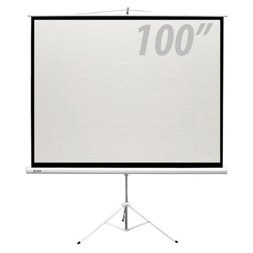 tela de projeção 100 polegadas c/ tripé - csr