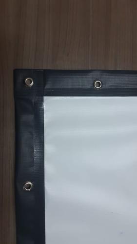 tela de projeção com ilhoses frontal 200 para box truss