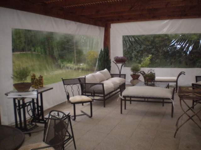 Tela de pvc cortinas panoramicas terraza quinchos pergolas en mercado libre - Cortinas de lona para terrazas ...