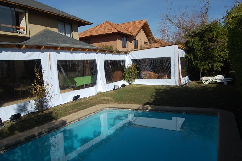 Tela de pvc cortinas panoramicas terraza quinchos pergolas en mercado libre - Como cerrar una terraza uno mismo ...