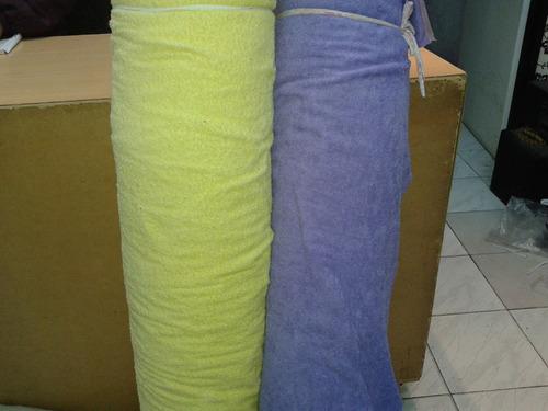 tela de toalla x metro blanca y color 420 gr