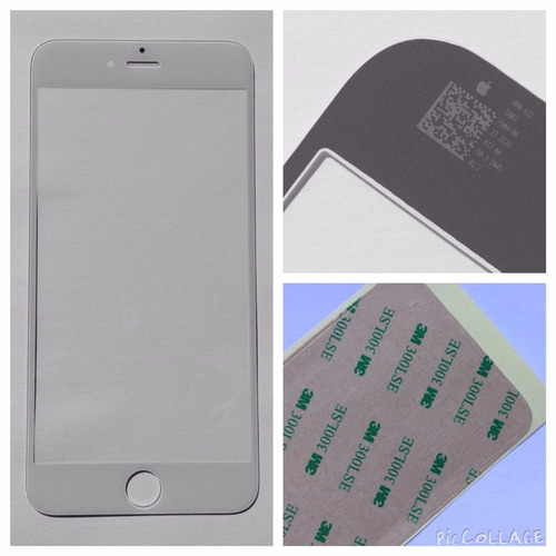 tela de vidro lente para iphone 6 plus 5.5 + adesivo