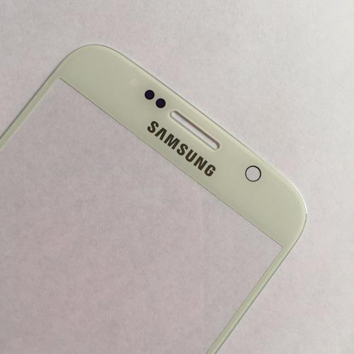tela de vidro lente samsung galaxy s6 g920 branca + adesivo