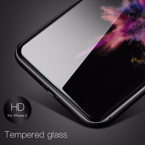 tela de vidro temperado para iphone x película anti riscos