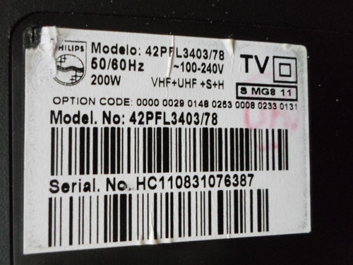 tela display da tv philips 42 pfl 3403/78 (usada a retirar)