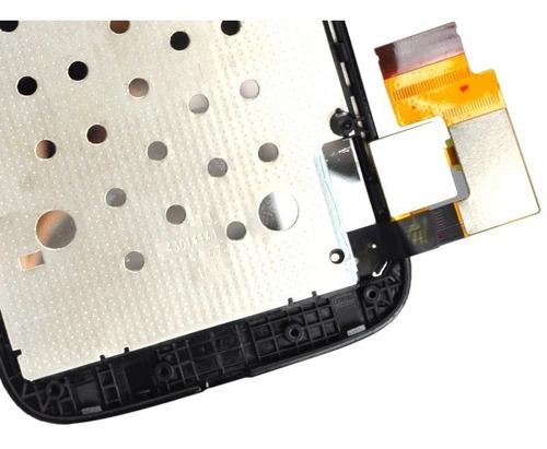 tela display lcd motorola moto g 1 g1 xt1032 xt1033 c/ aro