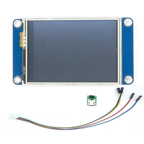 tela display lcd nextion 2.8 tft hmi 320x240 touch p/ arduin