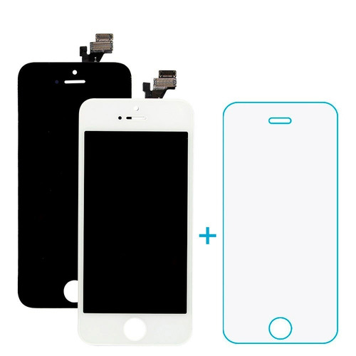 tela display lcd touch iphone 5 5g 5s 5c + película vidro