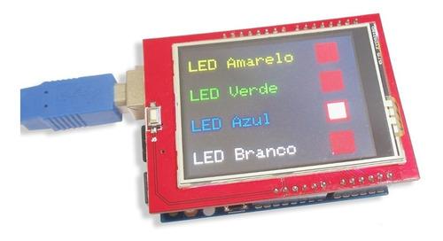 tela display shield lcd 2.4 tft 320x240 touch screen arduino