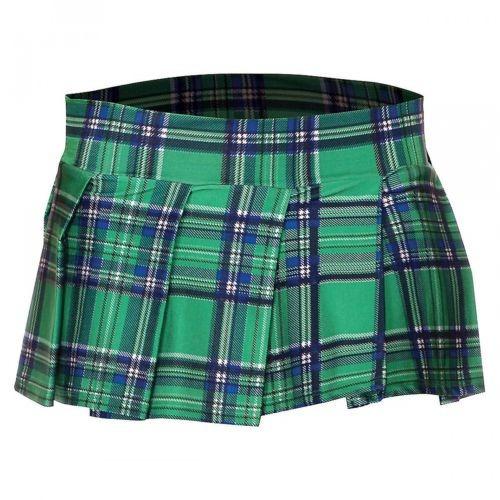 tela escocesa plisada mini falda mujeres adultos