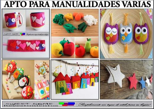 tela fieltro pañolenci para artesanías y manualidades