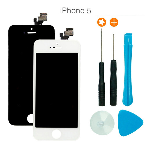 tela frontal display lcd touch iphone 5c 5 5s + tools
