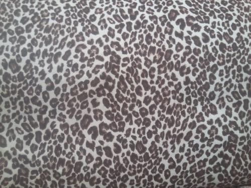 tela gabardina estampada animal print con spandex x metro