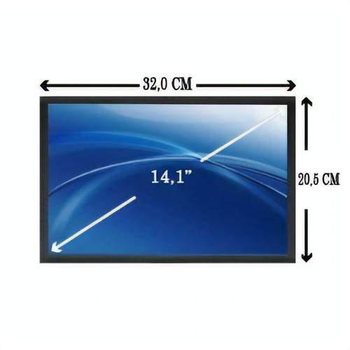 tela lcd 14.1 - notebook hp notebook pc 6510b envio imediato