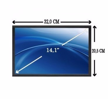 tela lcd 14,1 toshiba sti is1412 1462 cce hp positivo acer