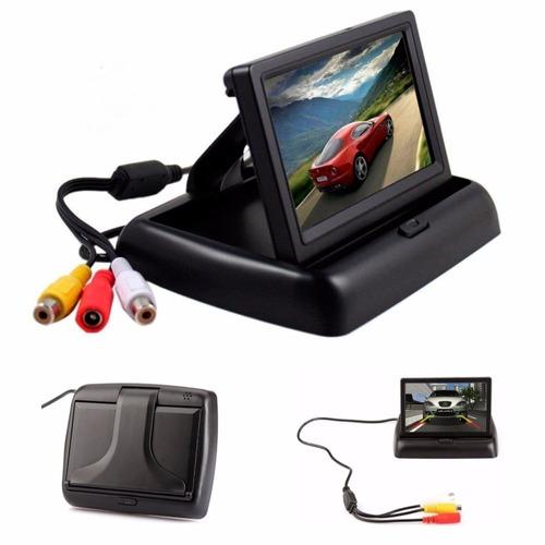 tela lcd 4.3 pol colorida para estacionamento e câmera de ré
