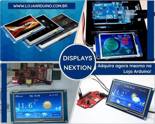 tela lcd nextion 4.3 ihm led touch arduino pic clp (4005-1)