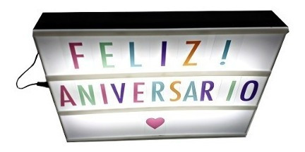 tela letreiro 85 letras cor painel led decoracao festa loja
