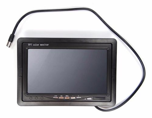 tela monitor 7 pol p/ camera ré dvd p/ 2 cameras carro /casa