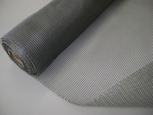 tela mosqueteira industrial de nylon cinza rolo de 1,2mx1,0m