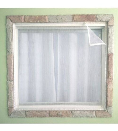 tela mosquiteira clink 1,3 x 1,5 metros c/ velcro p/ janelas