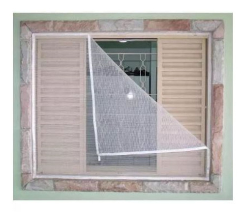 tela mosquiteira em poliéster p/ janelas 150 x 180.