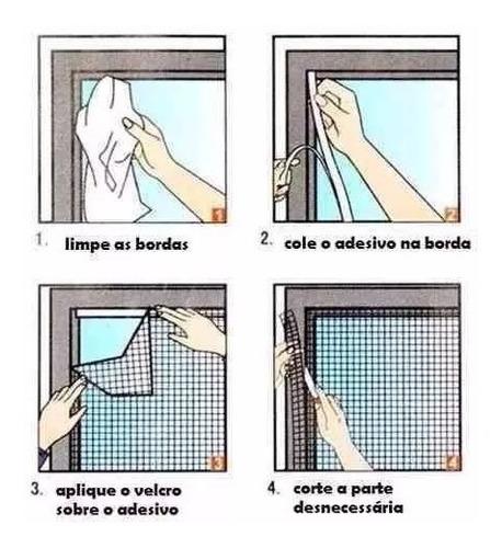 tela mosquiteira em poliéster p/ janelas inseto 130 x 150