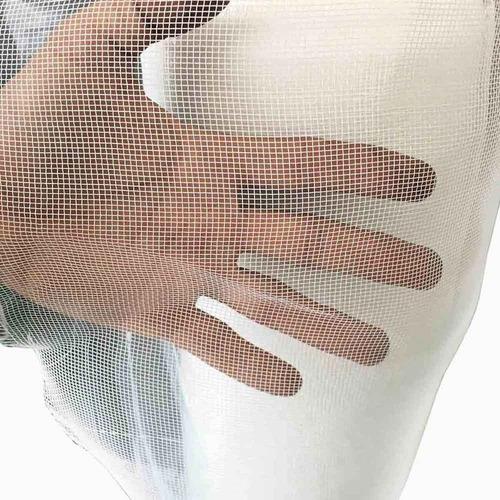 tela mosquiteira nylon 10m x 1,50m - branca, cinza, verde
