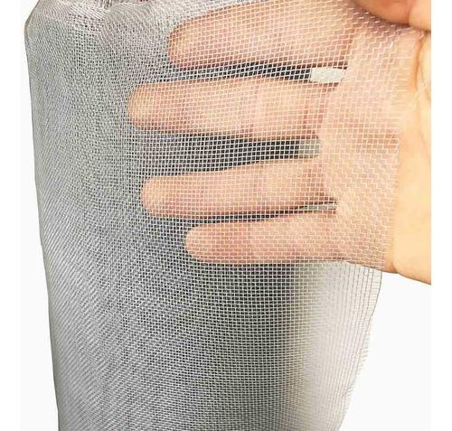 tela mosquiteira nylon verde branca cinza - 1,20 x 5 metros