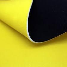 tela neopreno amarilla y negro