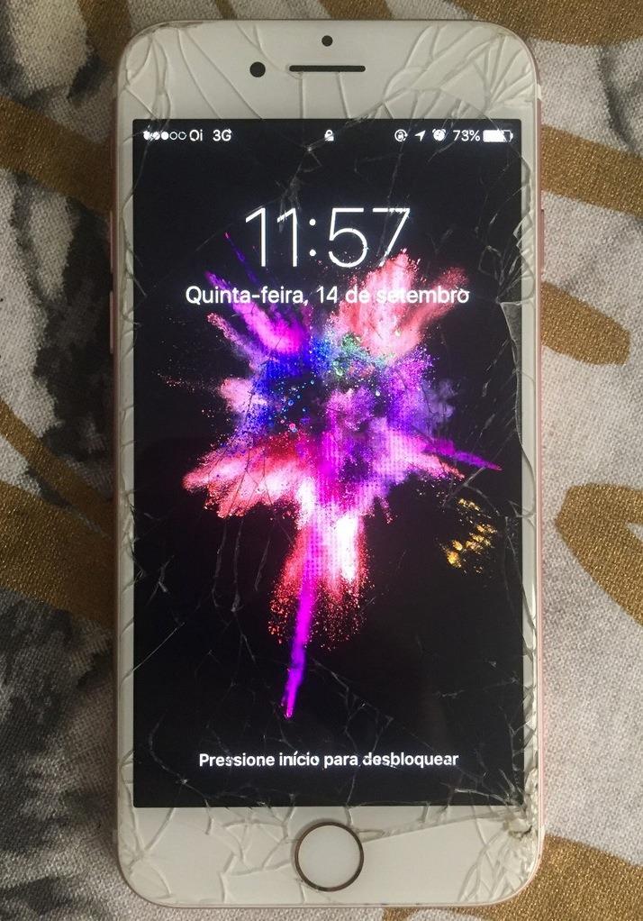 38ee8a8df5b tela original apple iphone 7 trincada branca funcionando. Carregando zoom.