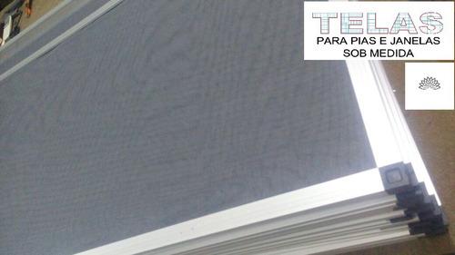 tela para janelas - anti insetos - tam. 100x100 com velcro