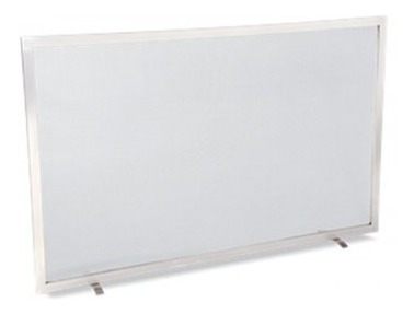 tela para lareira em inox - 70x50 cm