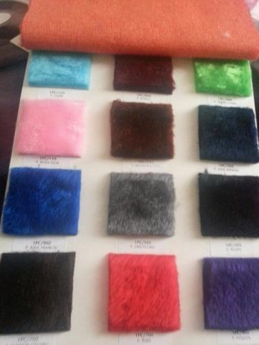 tela peluche por metro de 1,50m de ancho todos los colores