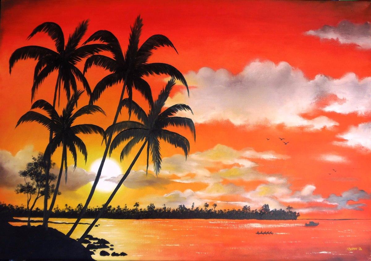 Tela Pintura Quadro Decorativo Por Do Sol Promo 231 227 O At 233 30