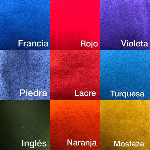 tela polar lisa 1.50 mts. de ancho variedad de colores