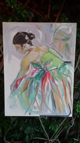 tela quadro pintura bailarina