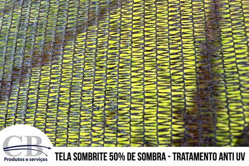tela sombrite 50% - costurada na medida que você precisa!