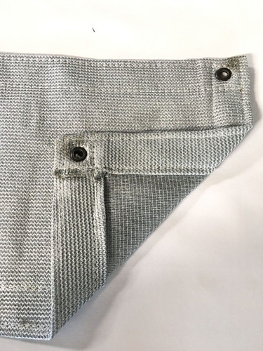 tela sombrite prata 90% - 10x2m com bainha e ilhós 50cm